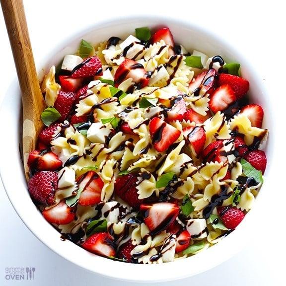 5 ingredient strawberry caprese salad