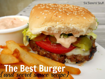 Burger and secret sauce