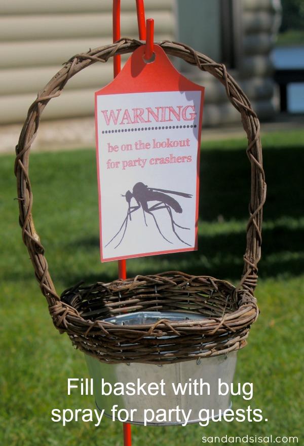 bug spray basket