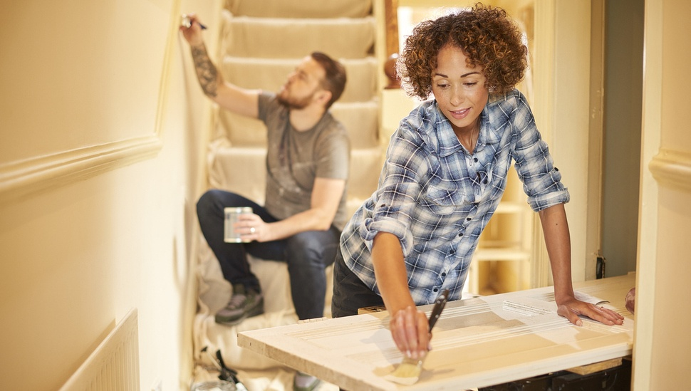 man-and-woman-working-on-DIY-home-improvement-projects