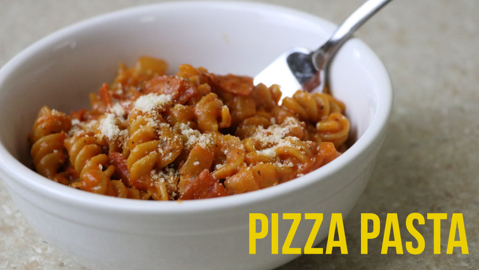 Bowl of pizza pasta