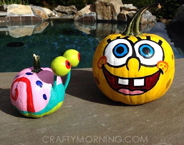 Spongebob no-carve pumpkin