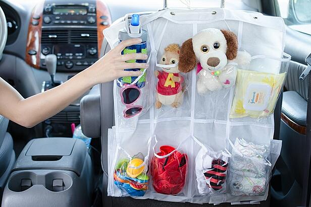 Shoe organizer for the car