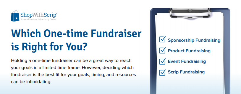 Which one-time fundraiser is right for you?