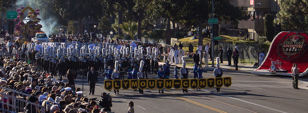 PCMB Marching in Rose Bowl Parade
