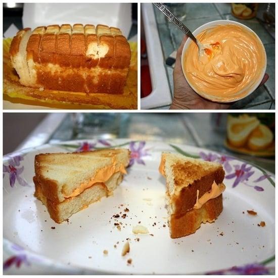 Grilled cheese poundcake prank