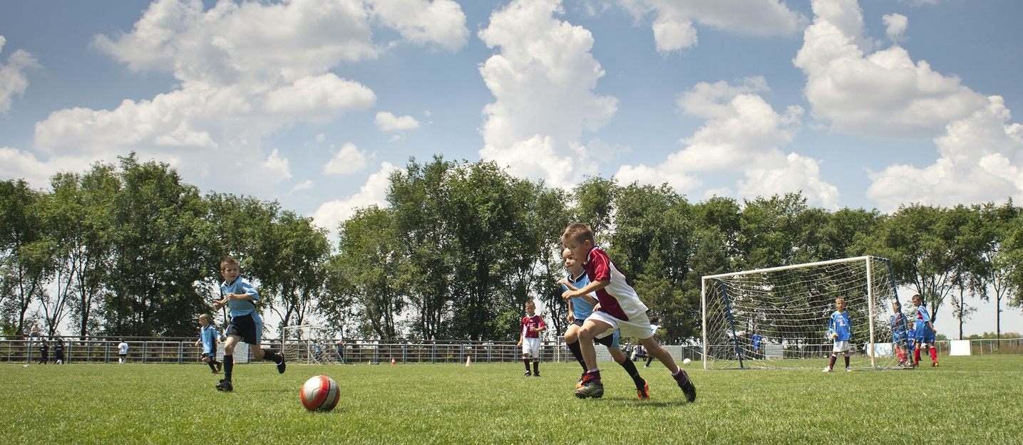 Kids at travel soccer game