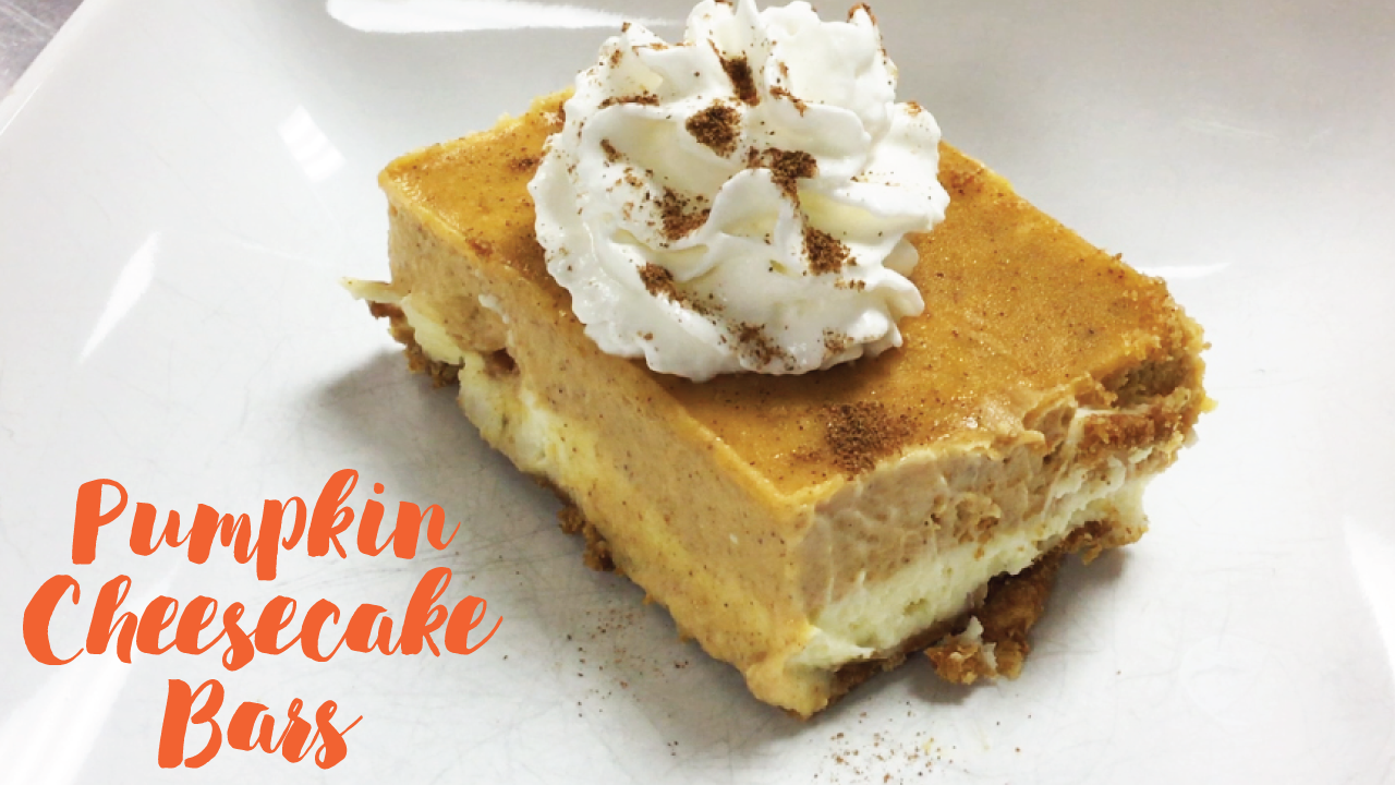 Untraditional Thanksgiving Dessert Recipe: Pumpkin Cheesecake Bars